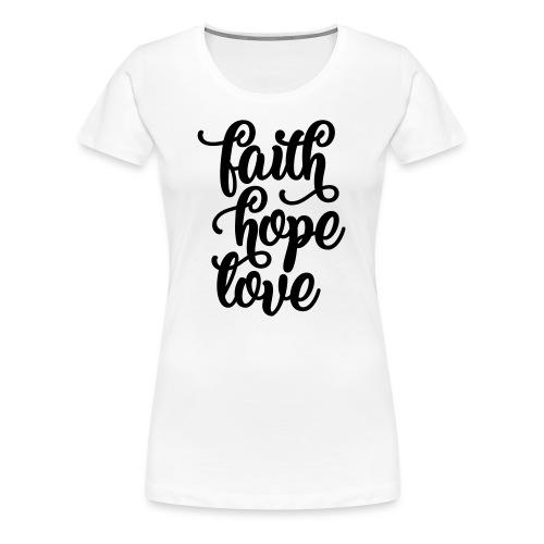 typo schatten 2016 - Frauen Premium T-Shirt