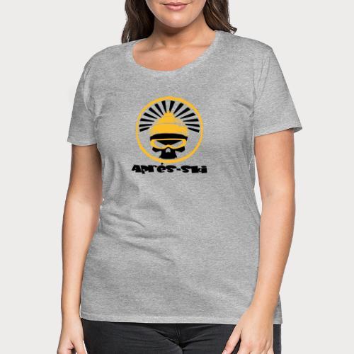 apres ski skull - Frauen Premium T-Shirt