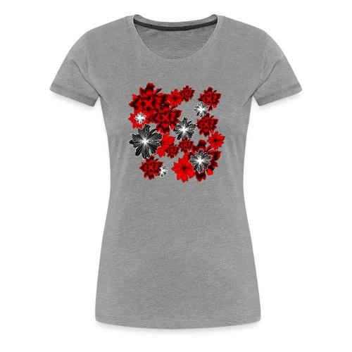 blutrot blüten - Frauen Premium T-Shirt