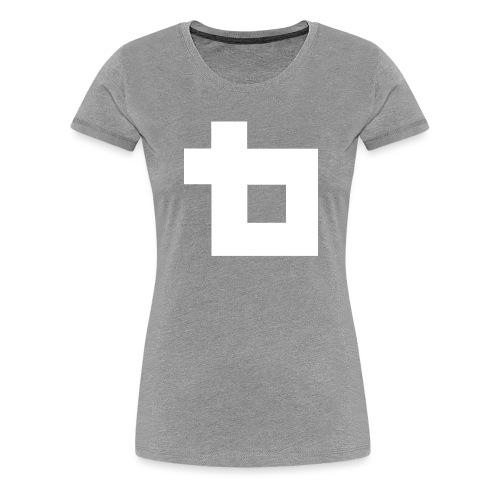 Lunatics Logga, vit - Premium-T-shirt dam