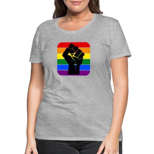 black power rainbow lgbt pride black lives matter - Women's Premium T-Shirt
