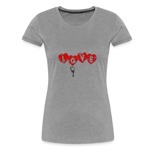 Love HERZSCHLÜSSEL-1 - Frauen Premium T-Shirt