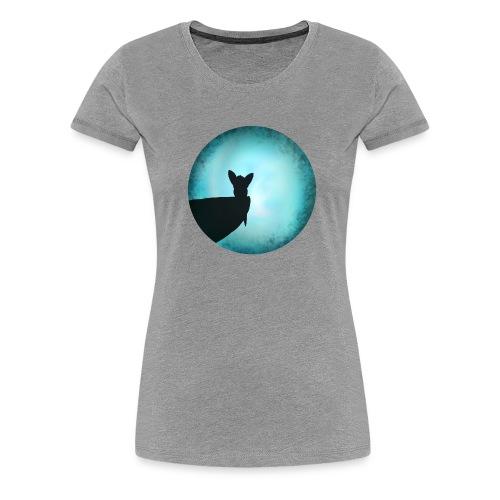 Tier im Mondlicht - Frauen Premium T-Shirt
