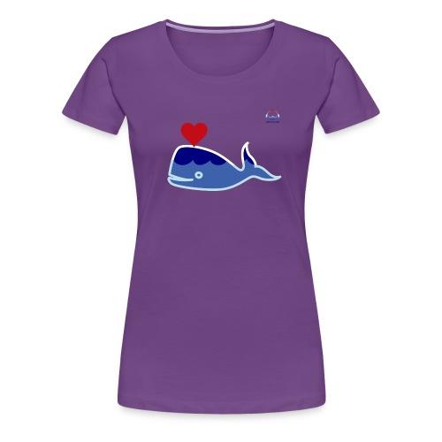 Wale of Love - Camiseta premium mujer