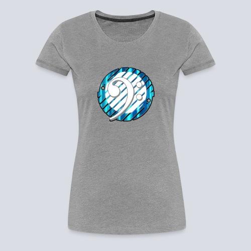 BassClef blue/white - Women's Premium T-Shirt