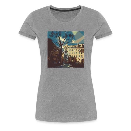 Abstrakt Budapest - Frauen Premium T-Shirt