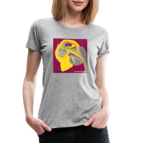 TIAN GREEN Welt Mosaik - CH071 Forever together - Frauen Premium T-Shirt