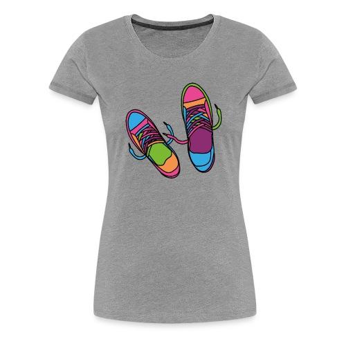 Hipster Schuhe - Frauen Premium T-Shirt