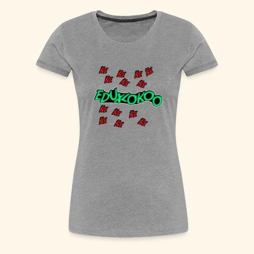 logo de eduxlokoo ñe - Camiseta premium mujer