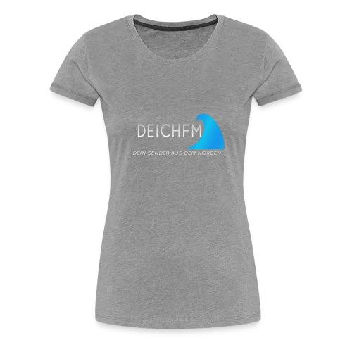 DeichFm Dein Sender aus dem Norden Logo Weiß - Frauen Premium T-Shirt
