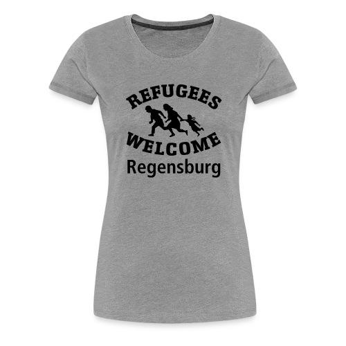 Refugees.Welcome.Regensburg - Frauen Premium T-Shirt