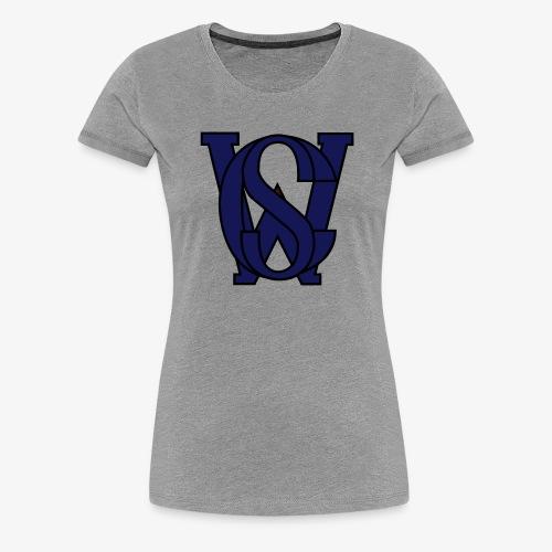 SCW Logo schwarzer rand graue fuellung 07 - Frauen Premium T-Shirt