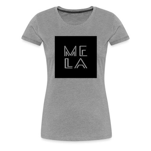 Mela Svart Logo - Premium T-skjorte for kvinner
