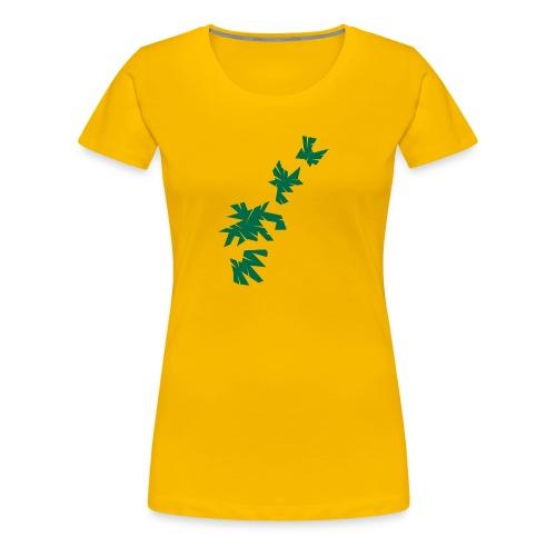 Green Leaves - Frauen Premium T-Shirt