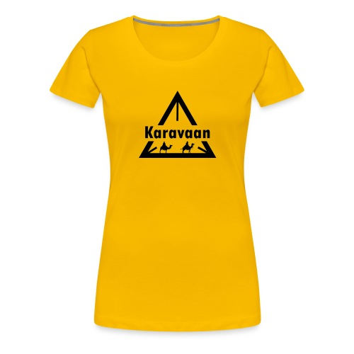 Karavaan Black (High Res) - Vrouwen Premium T-shirt