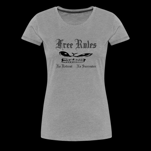 free rules no 01 blanc - T-shirt Premium Femme