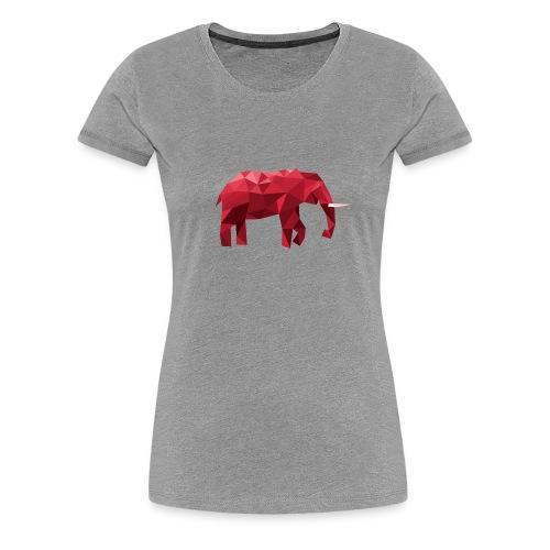 Elefant Vektor Rot - Frauen Premium T-Shirt