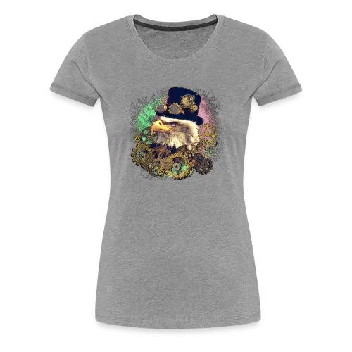 Steampunk Adler - Frauen Premium T-Shirt