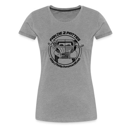 logonoiretblanc - T-shirt Premium Femme