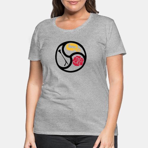 BDSM Emblem SM 3-color - Frauen Premium T-Shirt