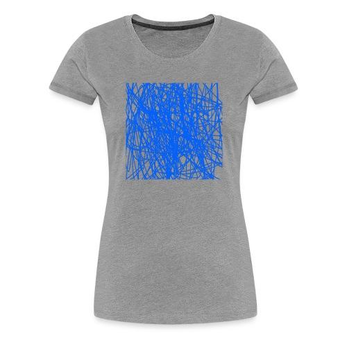 Blue lines - Premium-T-shirt dam