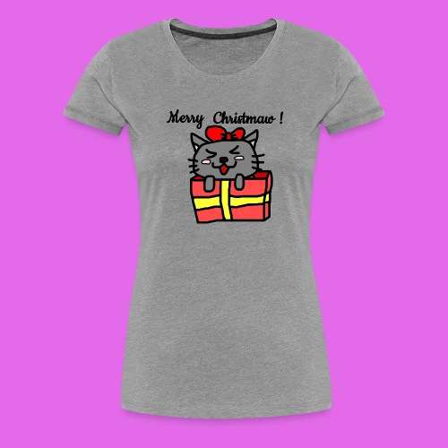 Christmas Kitty - T-shirt Premium Femme