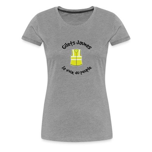 la voix du peuple - T-shirt Premium Femme