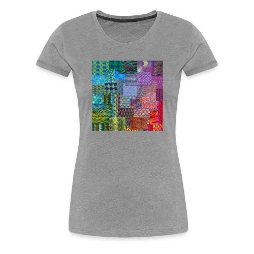Knitting a rainbow - Premium-T-shirt dam