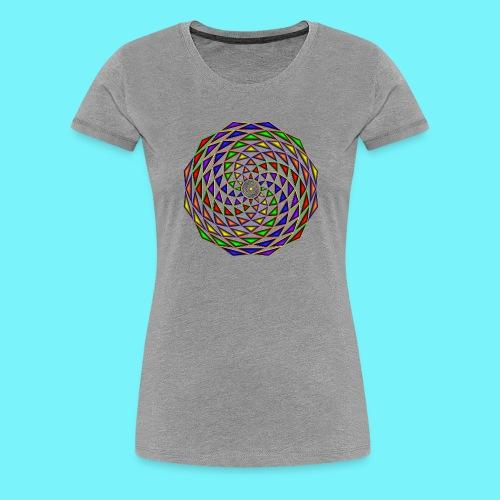 Mandala in rainbow colours - Women's Premium T-Shirt