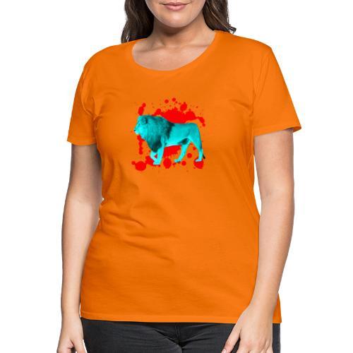 Löwe in Türkis - Frauen Premium T-Shirt