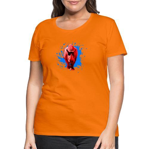 Rotes Nashorn - Frauen Premium T-Shirt