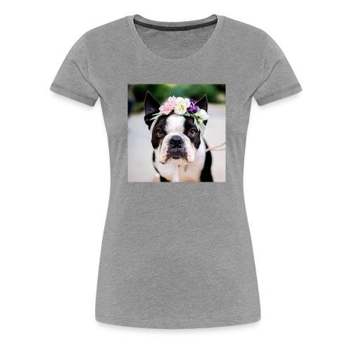 Blumenhund - Frauen Premium T-Shirt