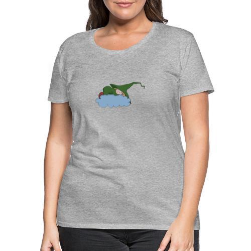 Grüne Hexe schläft auf einer Wolke - Frauen Premium T-Shirt
