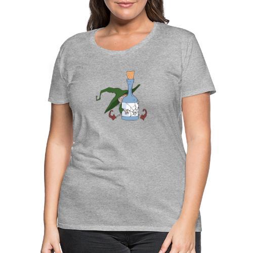 Green Witch with Bottle - Frauen Premium T-Shirt