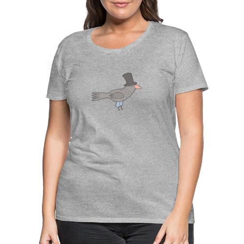Crow with Hat - Frauen Premium T-Shirt