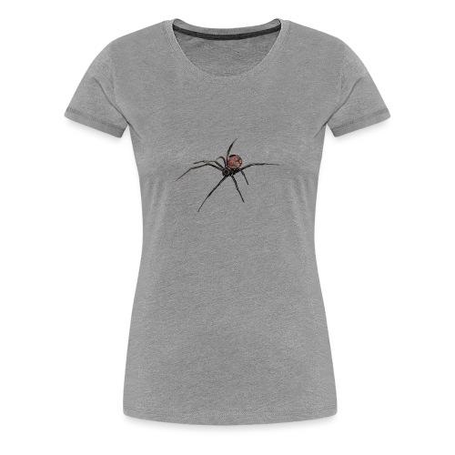 Spinne - Schwarze Witwe - Aquarell Zeichnung - Frauen Premium T-Shirt