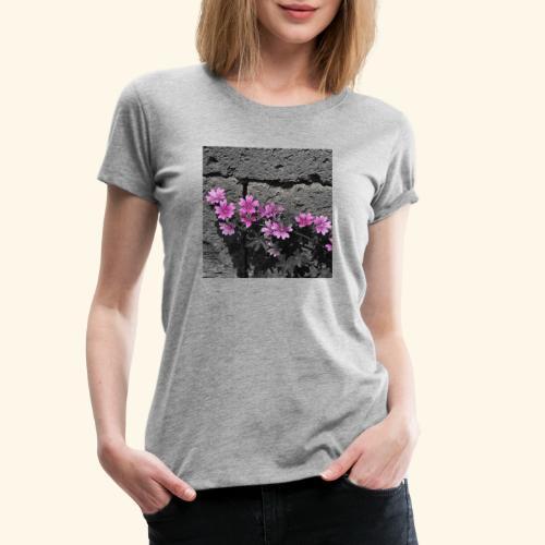 Fiori viola disegnati - Maglietta Premium da donna
