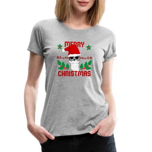 Merry Christmas Skull - Frauen Premium T-Shirt