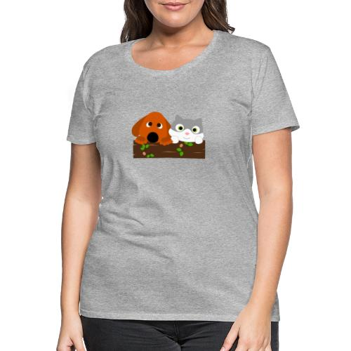 Hund & Katz - Frauen Premium T-Shirt