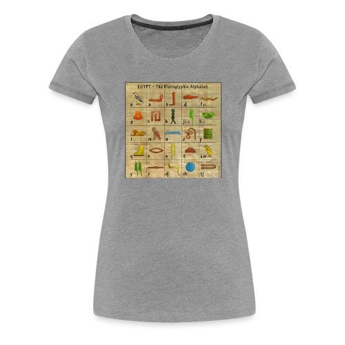 The Hieroglyphic Alphabet - Frauen Premium T-Shirt