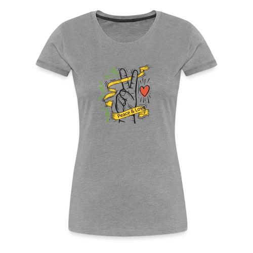Peace and Love - T-shirt Premium Femme