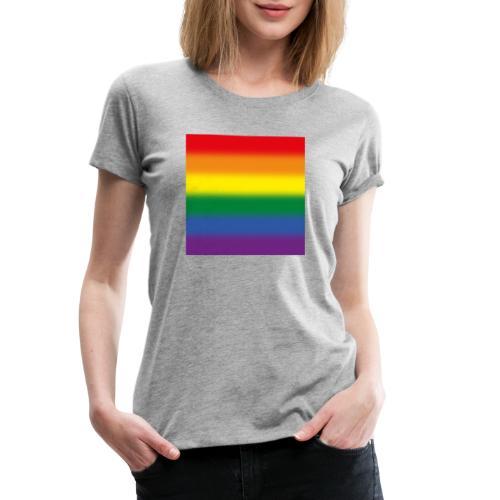 Verschwommene LGBT Flagge - Frauen Premium T-Shirt