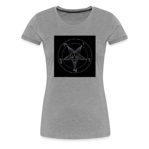 Satan/Pentagram - VHS Effekt - Störung - Glitch - Frauen Premium T-Shirt