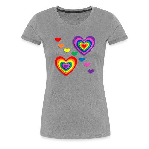 Flower Power Love - Frauen Premium T-Shirt