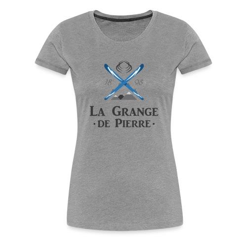 La Grange de Pierre Blue Cross Dark - T-shirt Premium Femme