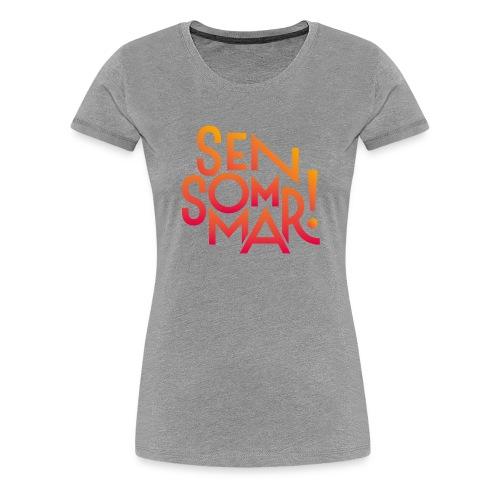 Sensommar Snapback-keps - Premium-T-shirt dam