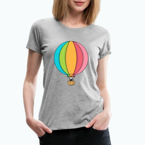 Zebra Zach Air Balloon - Premium-T-shirt dam