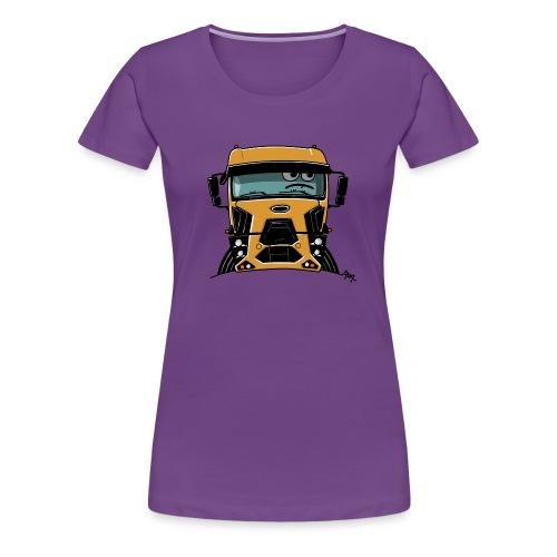 0812 F truck geel - Vrouwen Premium T-shirt
