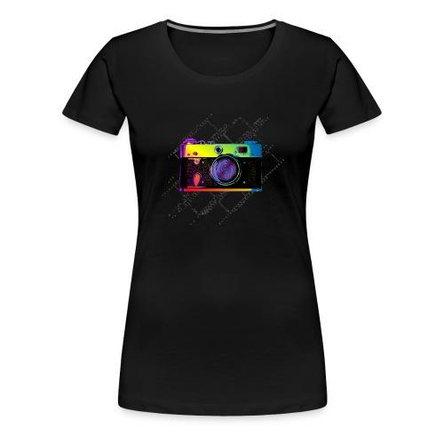 Vintage Rangefinder Film Camera Pop Art Style - Women's Premium T-Shirt