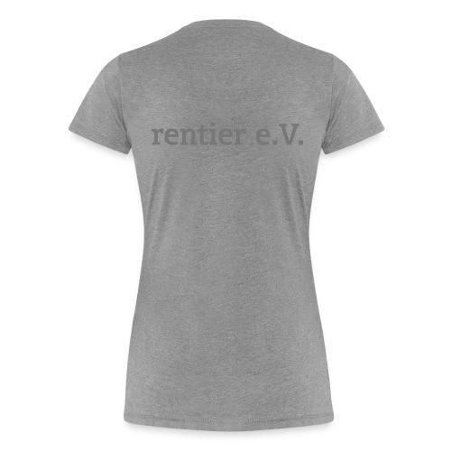 schriftrentier - Frauen Premium T-Shirt